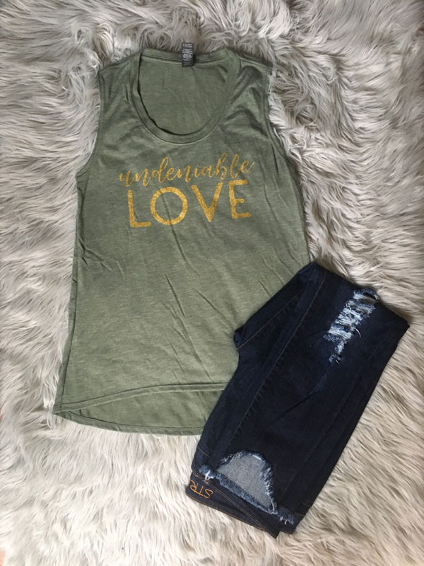 undeniable-love-tank-green